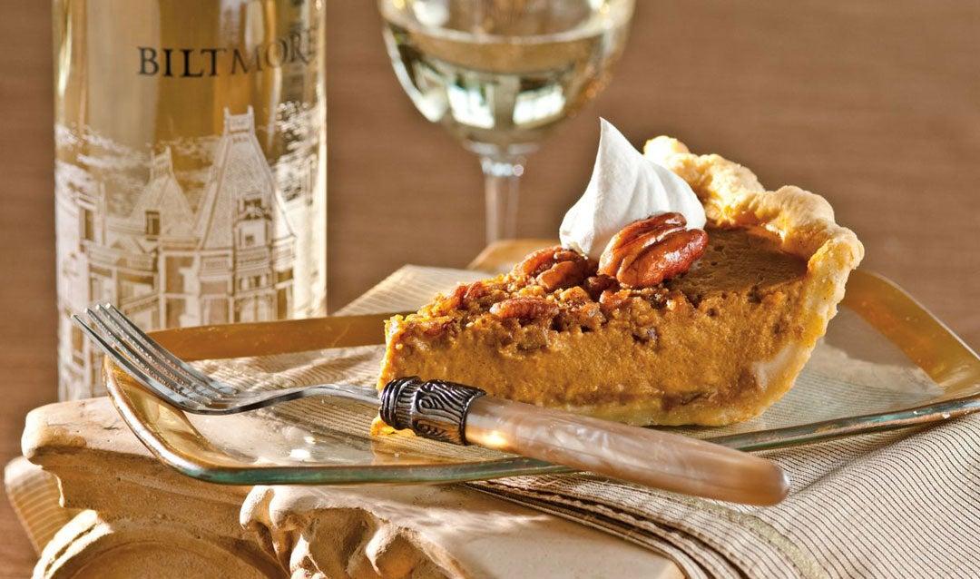 Century White Wine with pumpkin pie