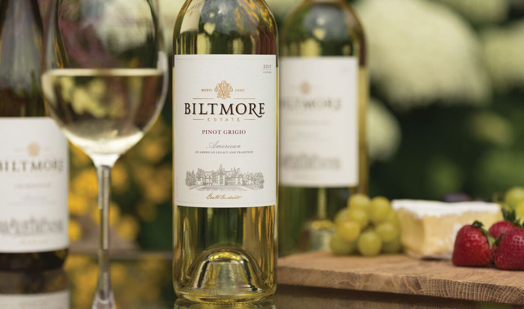 Bottles of Biltmore Pinot Grigio