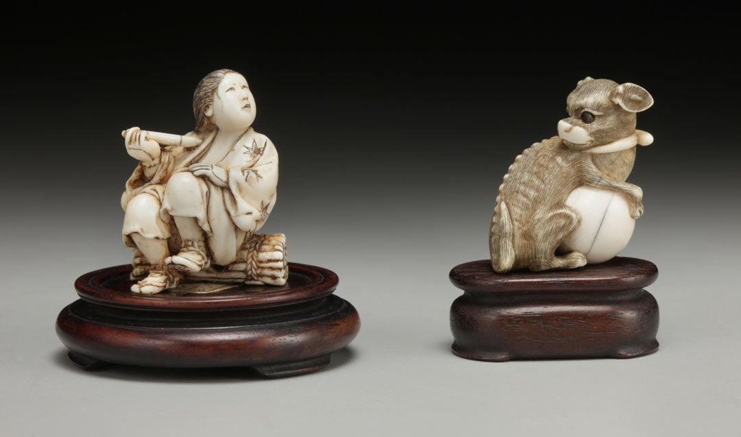 Netsuke souvenirs from George Vanderbilt's trip to Japan