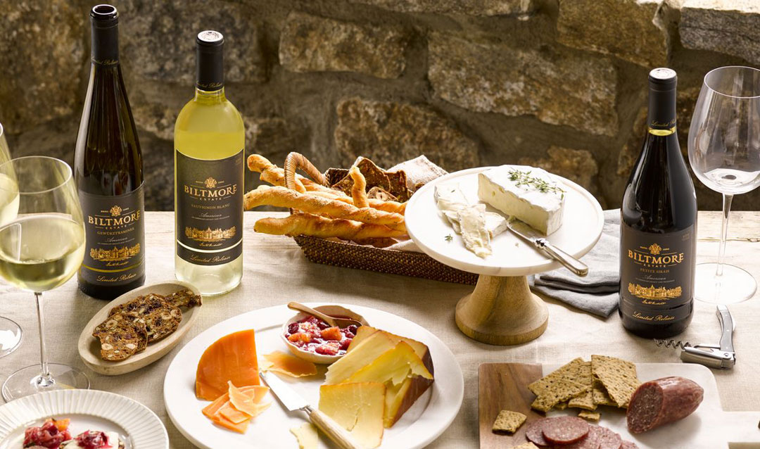 Savor in place with Biltmore wines and charcuterie