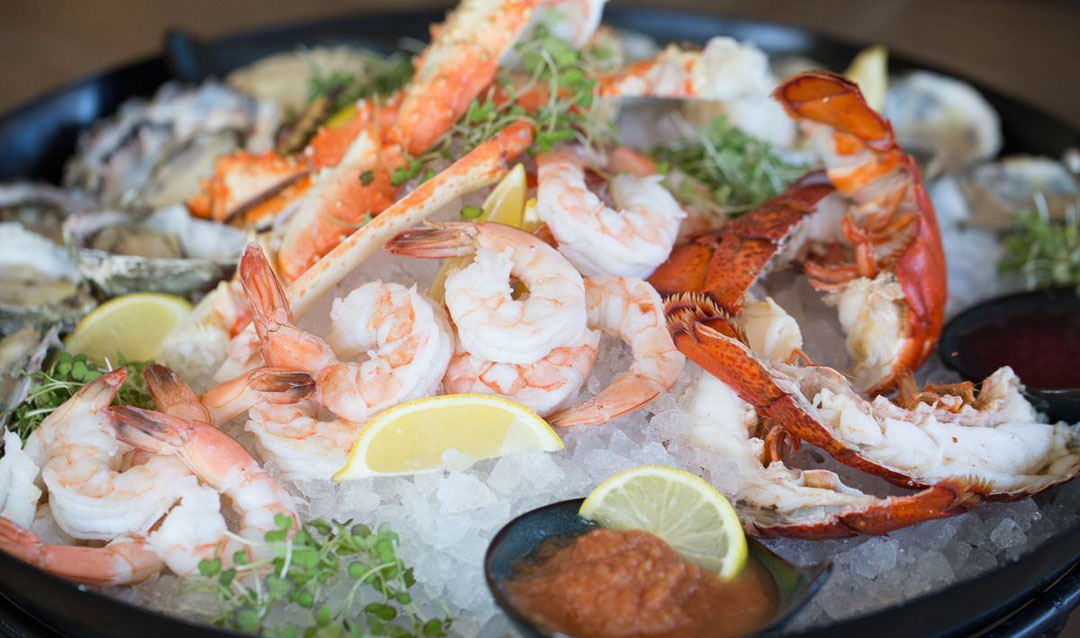 Fresh chilled seafood