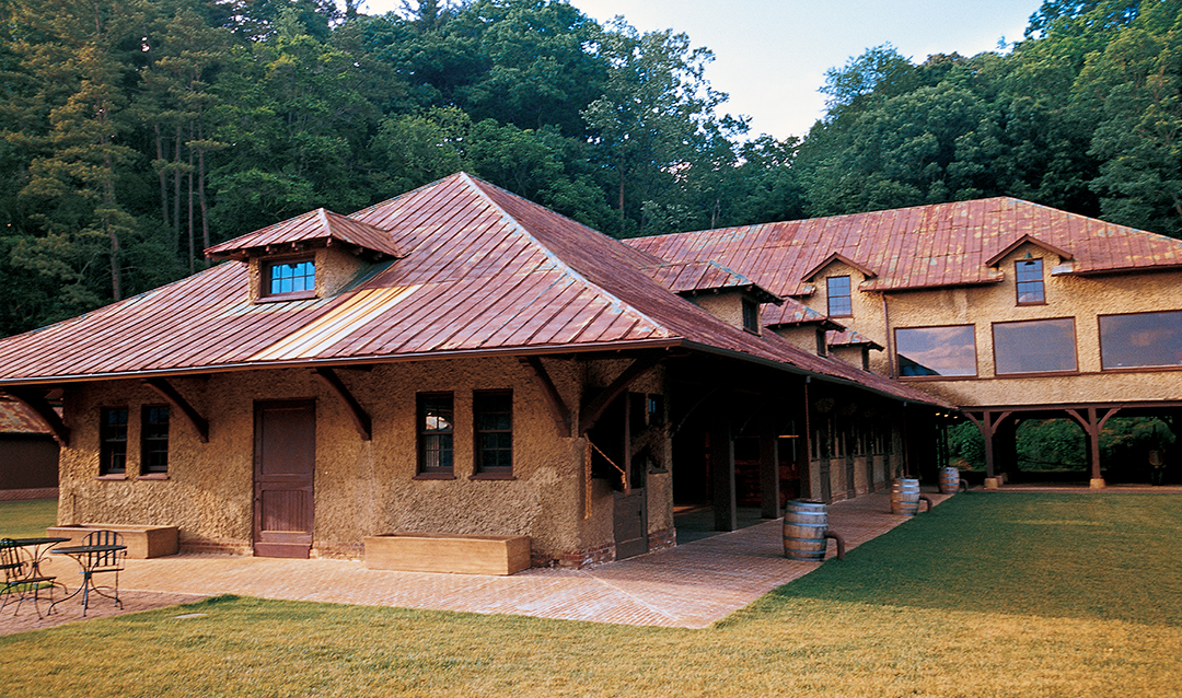 Antler Hill Barn, one of several movie locations at Biltmore