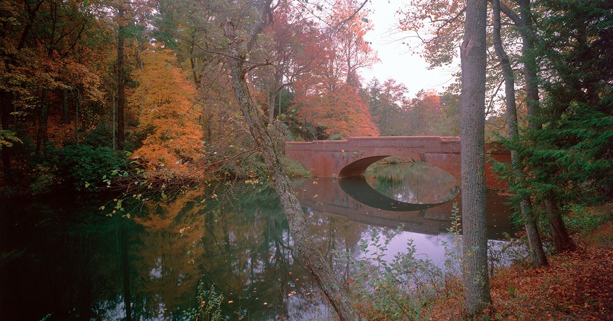 Biltmore's Bass Pond Bridge, featured in The Last of the Mohicans, another movie shot at Biltmore.