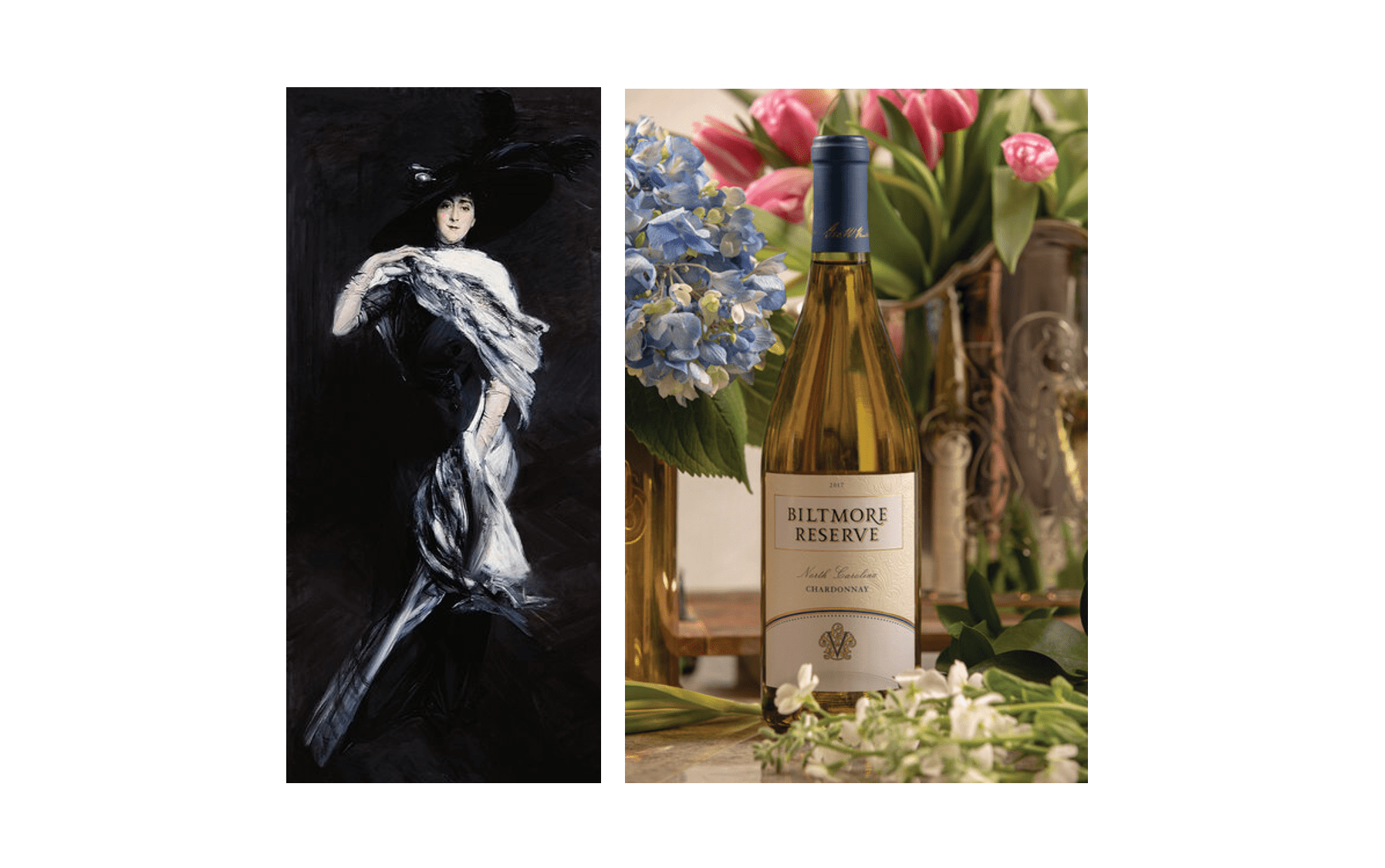 Edith Vanderbilt paired with Biltmore Reserve Chardonnay