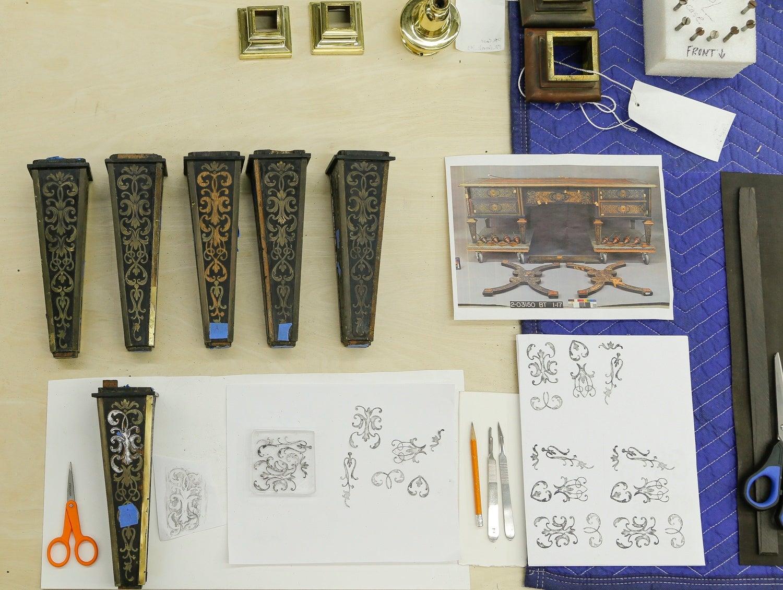 Biltmore furniture conservator is a desk detective
