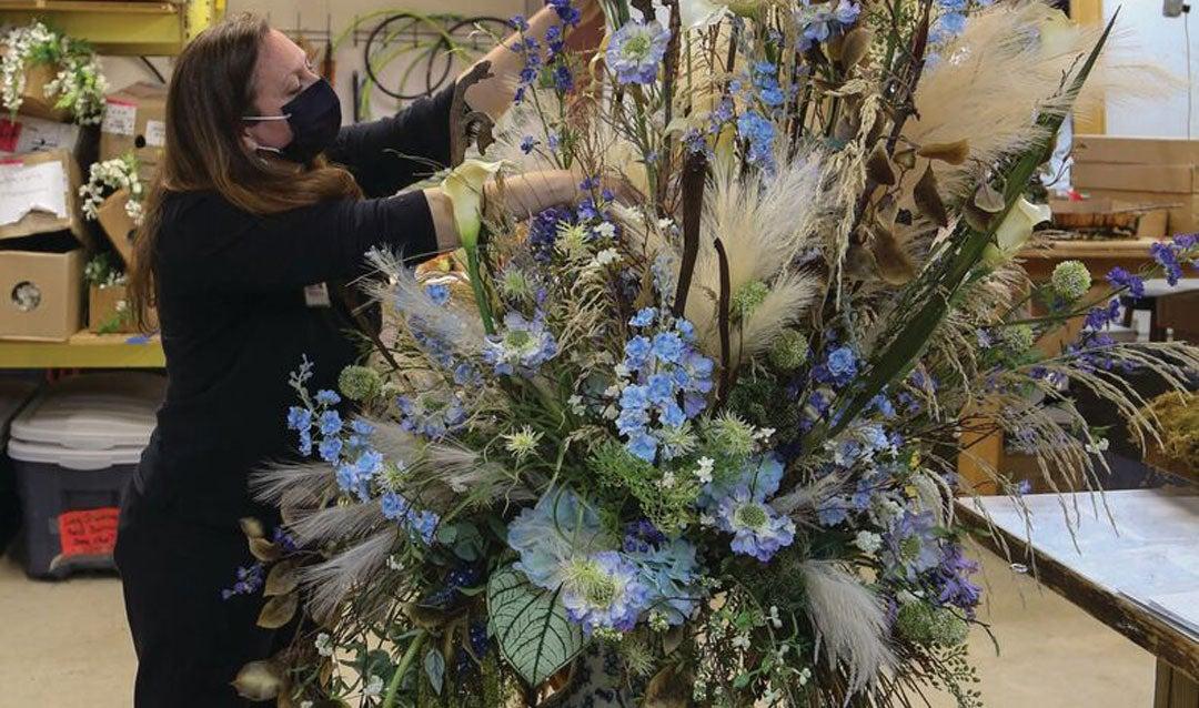 Biltmore Blooms arrangement for Third Floor Living Hall in Biltmore House