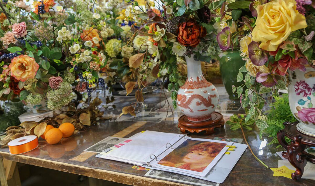 Biltmore Blooms floral arrangement highlighting Renoir's