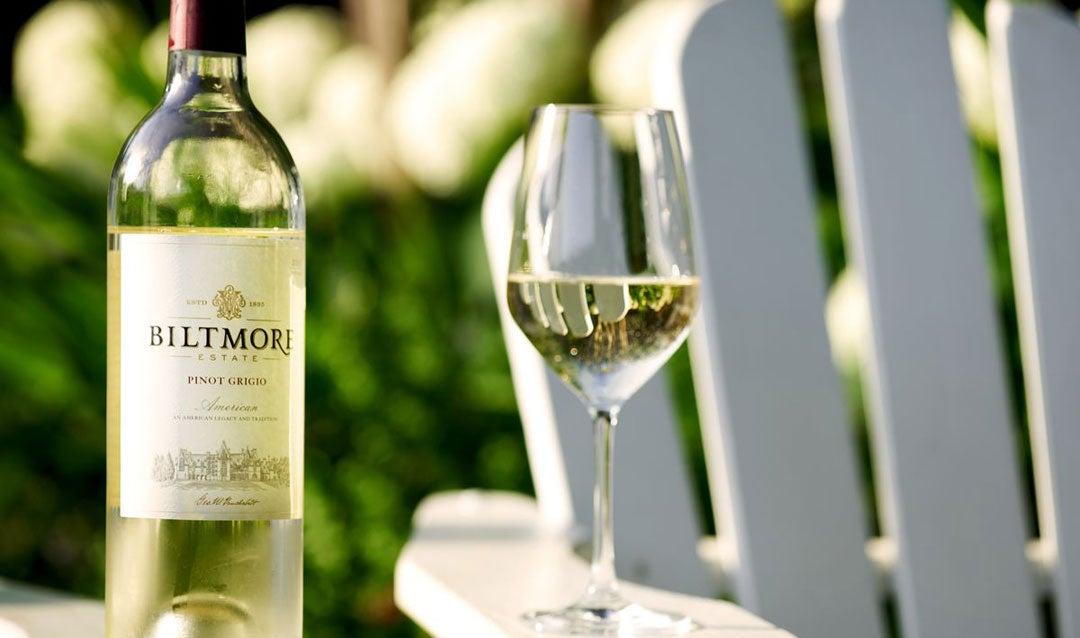 Sip Biltmore Estate Pinot Grigio outdoor this spring