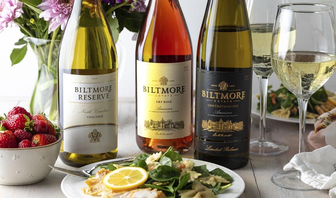 Enjoy Biltmore white wines this spring