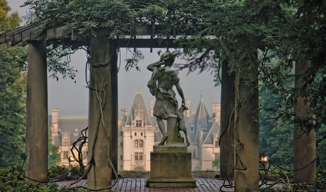 Temple of Diana overlooking Biltmore House