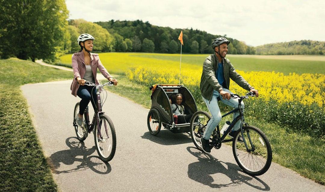Family biking at Biltmore