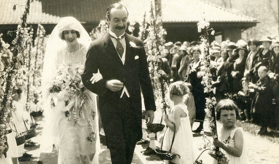 Cornelia Vanderbilt Cecil and the Honorable John F.A. Cecil as they left All Souls Church