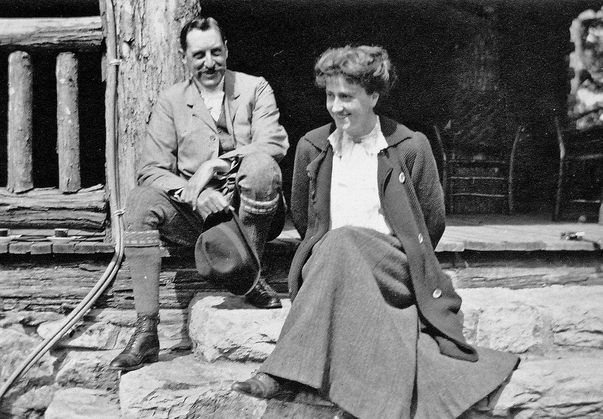 George and Edith Vanderbilt at Buck Spring Lodge, c. 1912