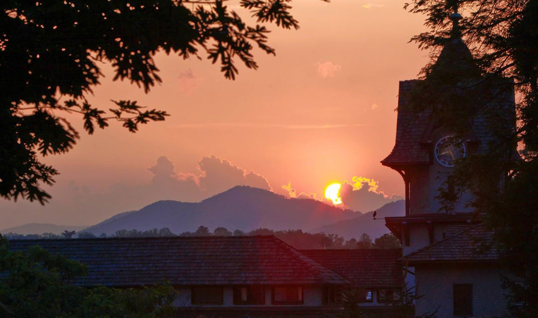 Biltmore Winery Clock Tower at sunset