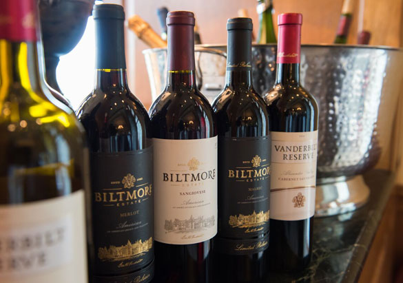 Just a few of the more than 50 Biltmore wine selections available at the estate or online