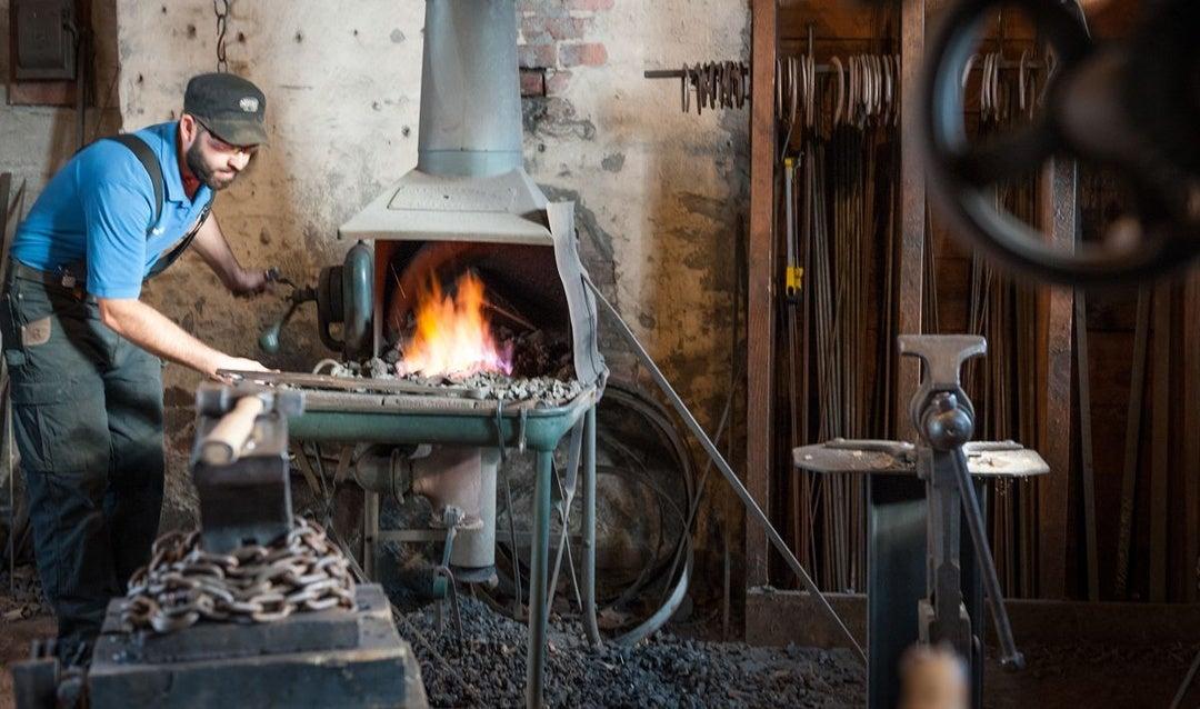 Biltmore Blacksmith at work