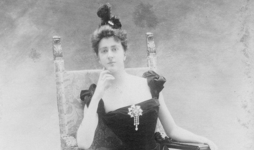 Edith Dresser's formal engagement photo, 1898