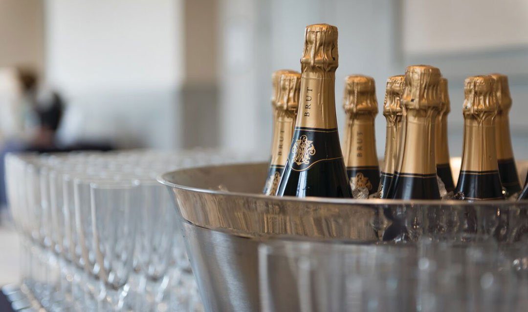 Biltmore sparkling wines in an ice bucket