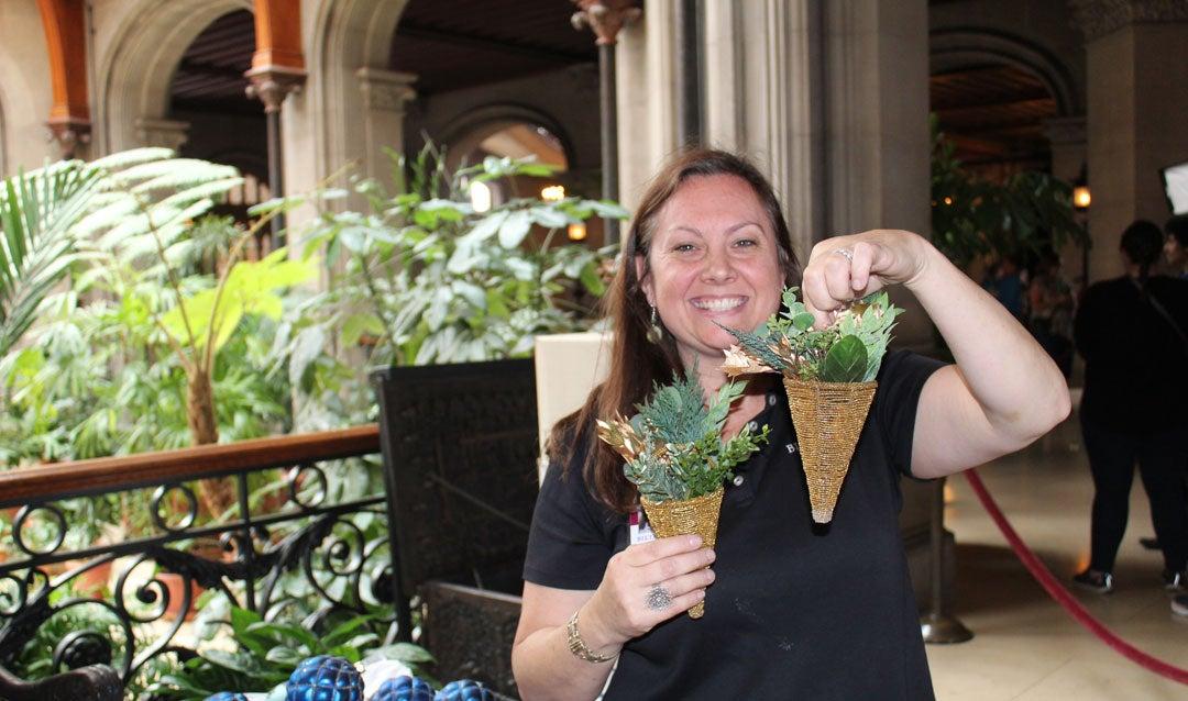 Biltmore designer holds ornaments she created