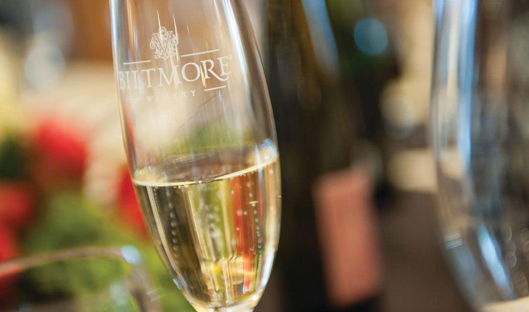 Biltmore sparkling wine in glass