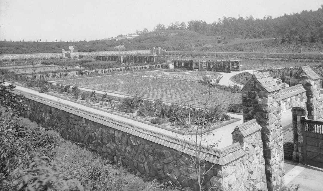 Archival image of Biltmore Walled Garden