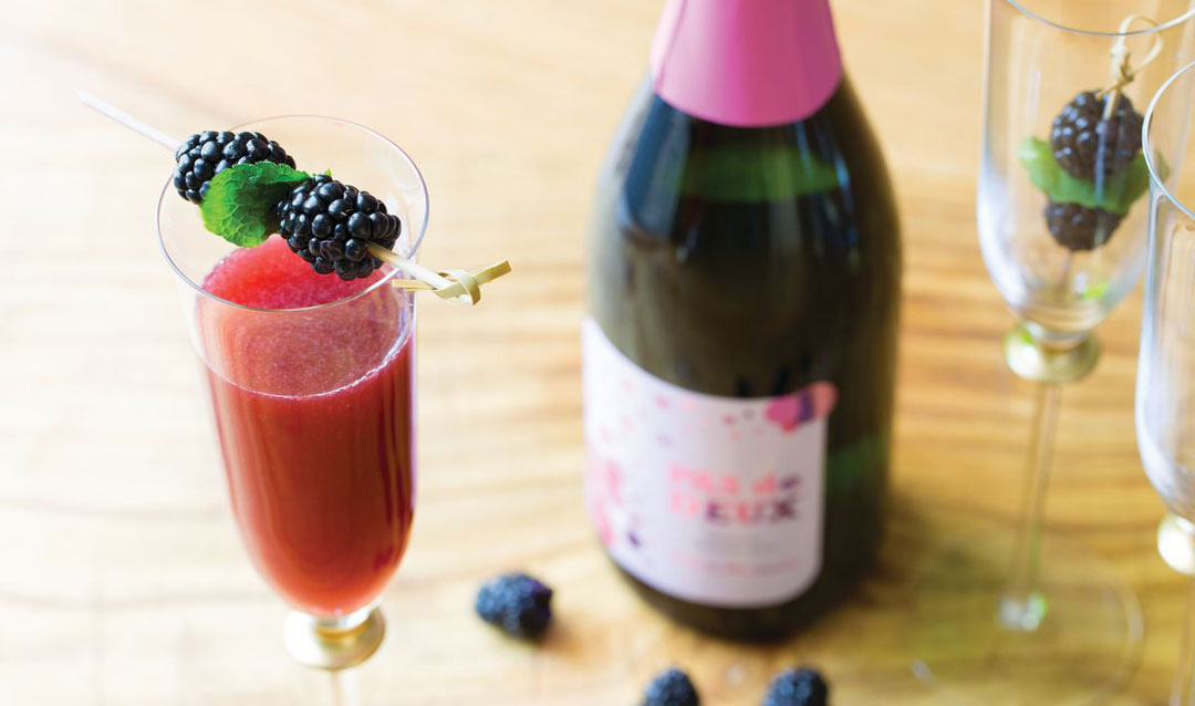 Summer sipping with a Blackberry Basil Bellini