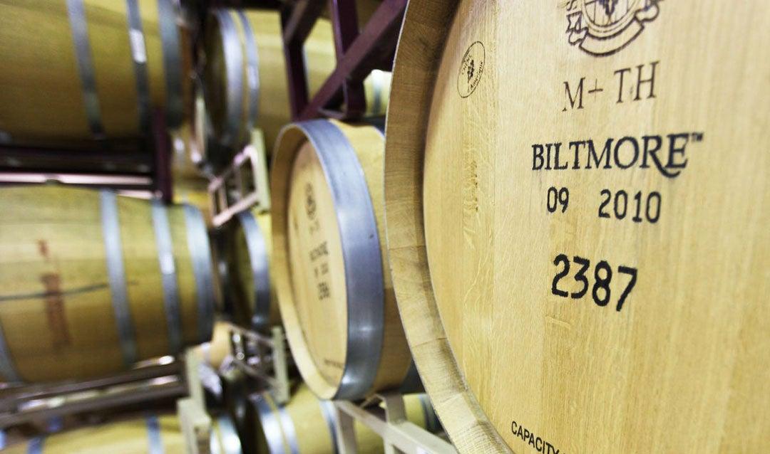Barrels at Biltmore's Winery