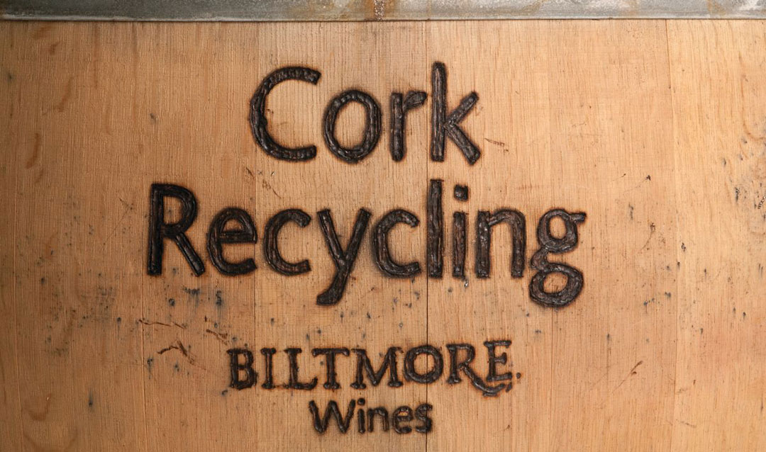 Cork recycling barrel for sustainability in winemaking