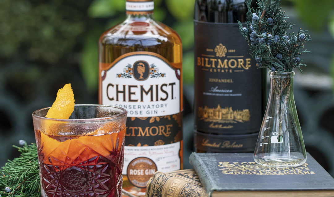 Create cocktail chemistry with Biltmore wines and Chemist Gin