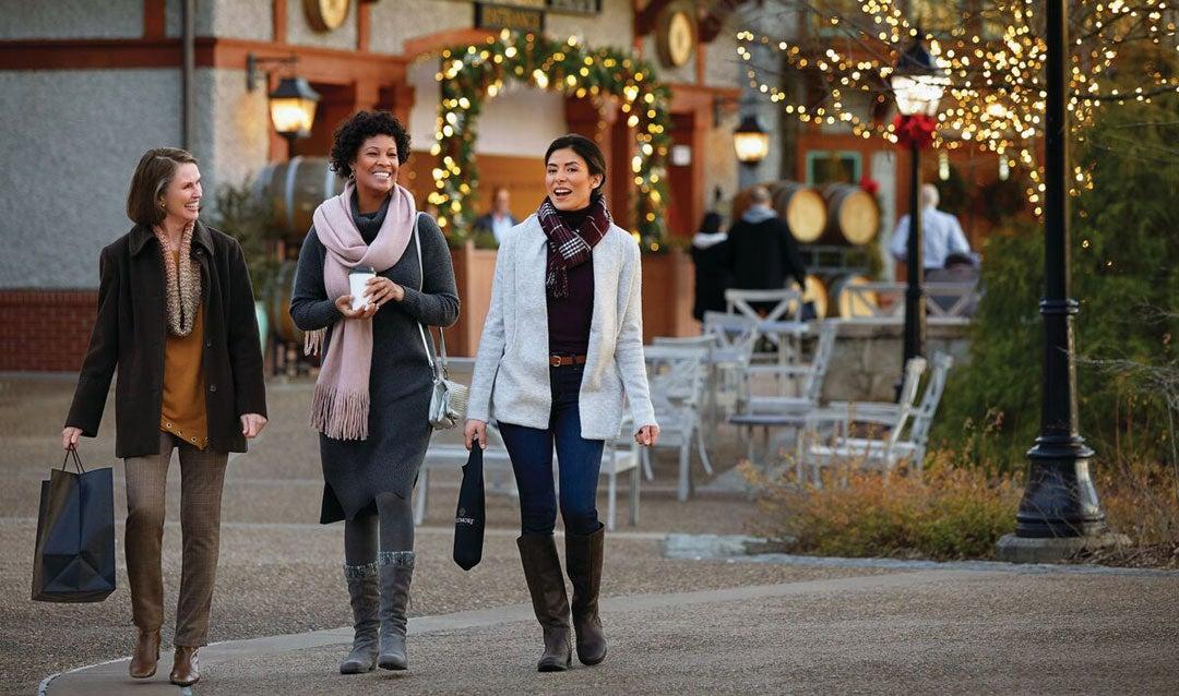 Ladies shopping in Antler Hill Village at Biltmore