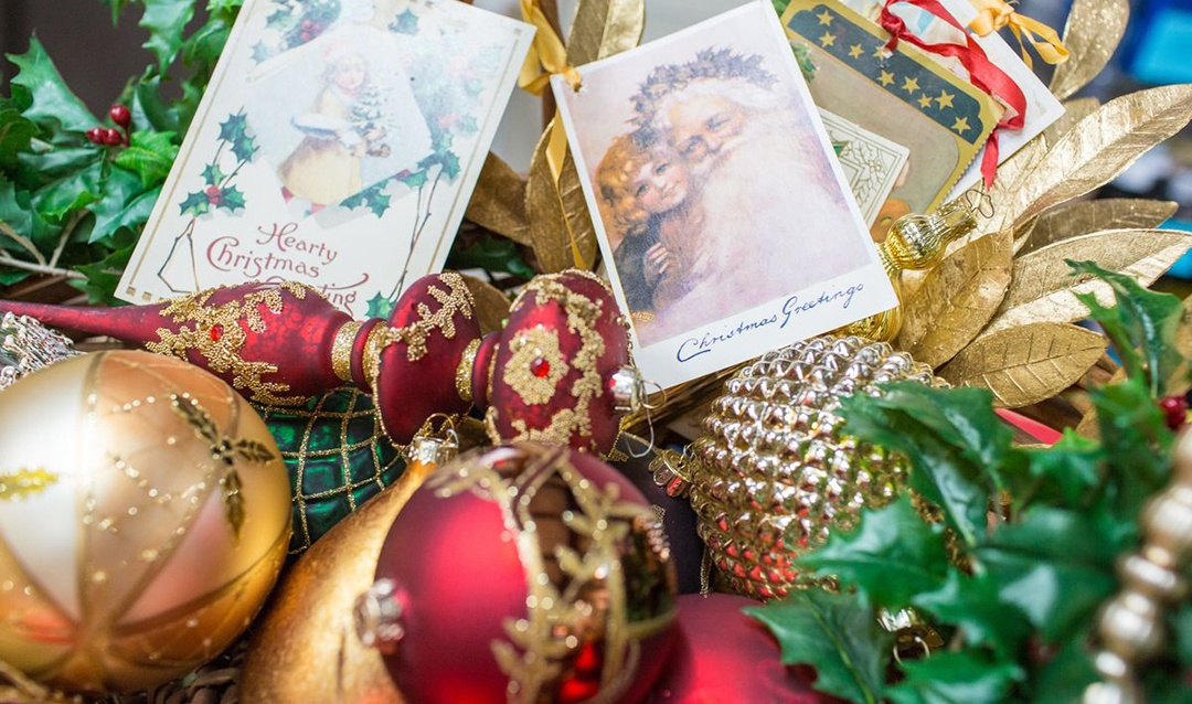 Various ornaments for Biltmore House Christmas trees