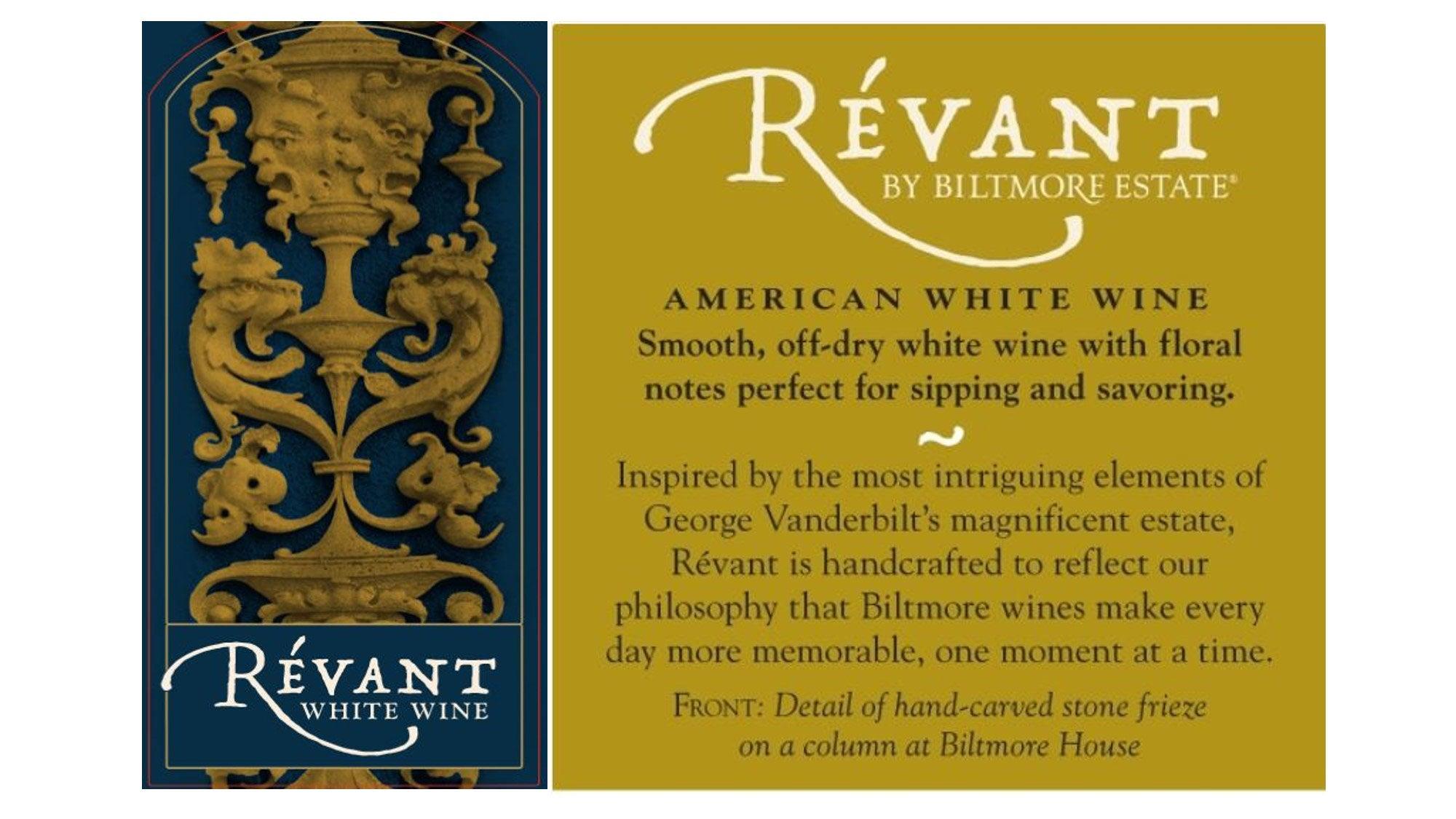 Révant front and back labels