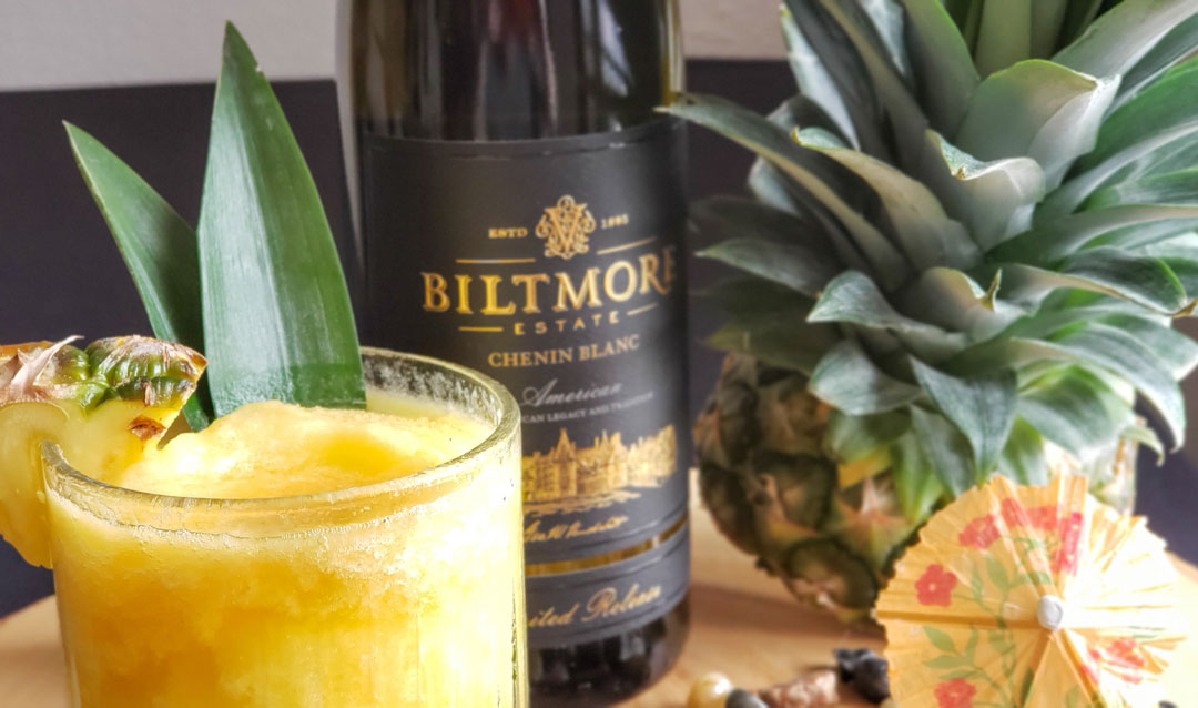 Pineapple slushie cocktail with Biltmore Estate Limited Release Chenin Blanc