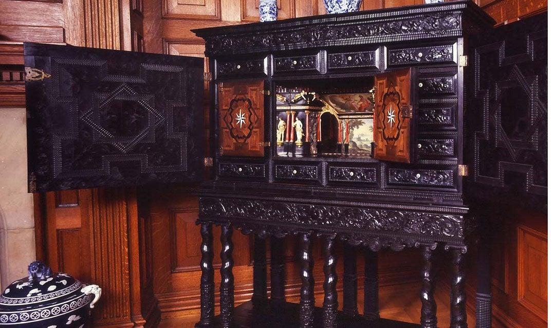 Ebony cabinet in the Oak Sitting Room
