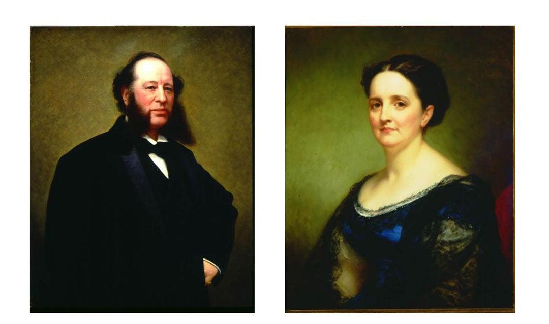 Portraits of George Vanderbilt's parents