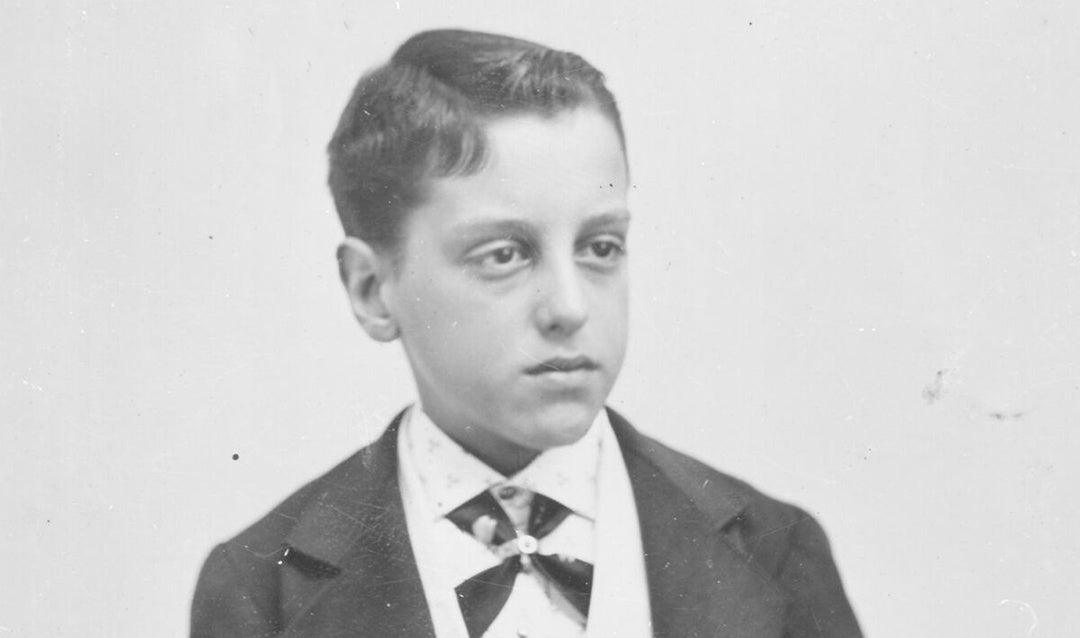 Portrait of George Vanderbilt around age 12, ca. 1873