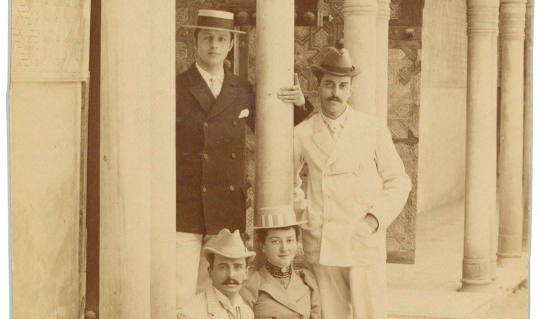 George Vanderbilt during Spanish travels with cousins, 1891