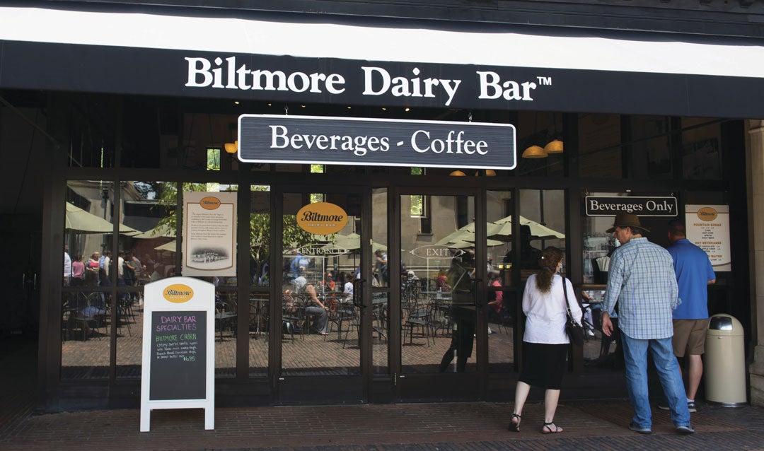 Guests entering Biltmore Dairy Bar