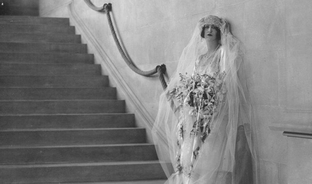 Cornelia Vanderbilt's wedding portrait upon her marriage to John Francis Amherst Cecil, April 1924