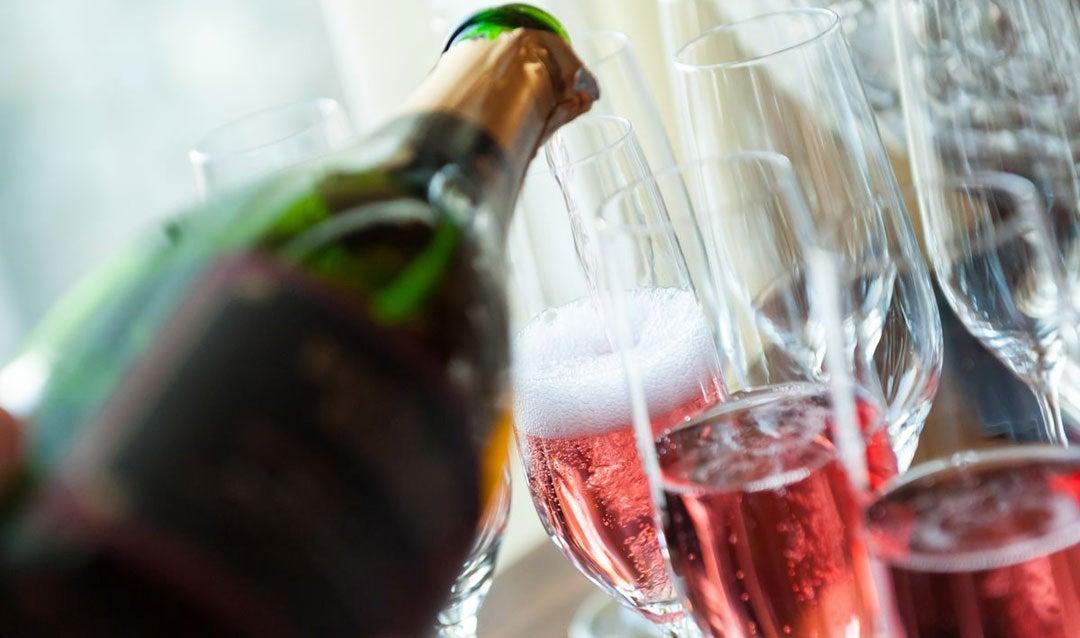 Biltmore Estate Blanc de Noir wine being poured in glasses