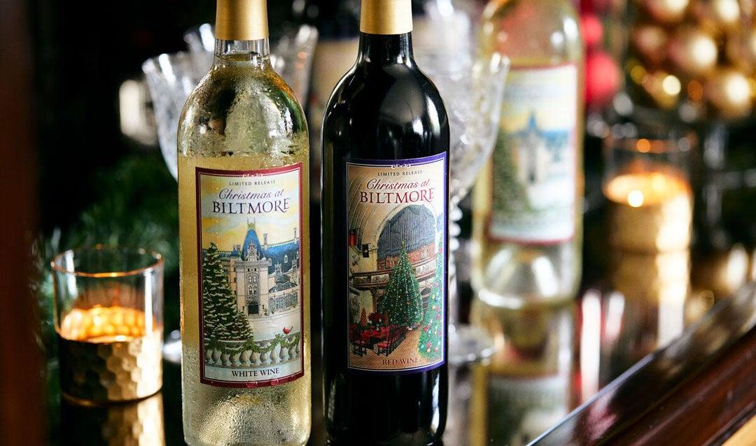 Facebook fans helped choose the labels on Biltmore Christmas wine