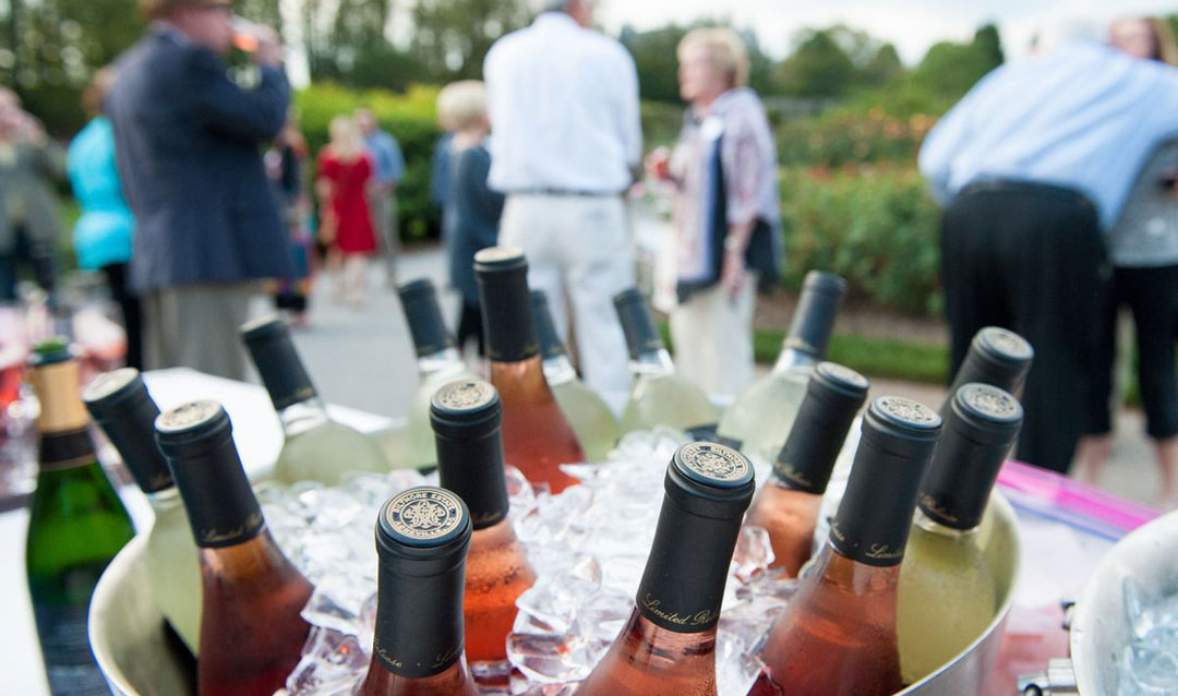 Biltmore wines in an ice bucket